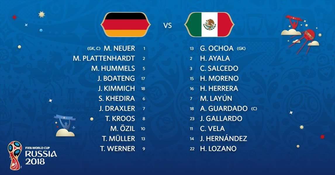 Live Streaming Germany vs Mexico 17.6.2018 Piala Dunia FIFA