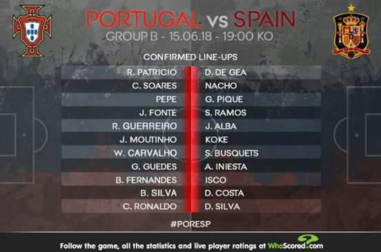 Live Streaming Portugal vs Spain 16.6.2018 Piala Dunia FIFA