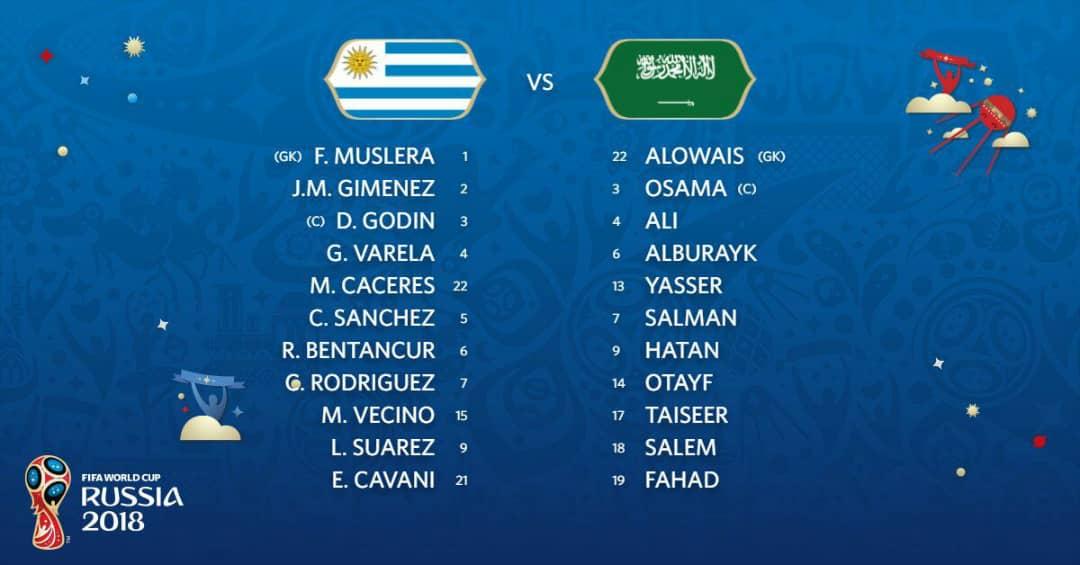 Live Streaming Uruguay vs Saudi Arabia 20.6.2018 Piala Dunia FIFA