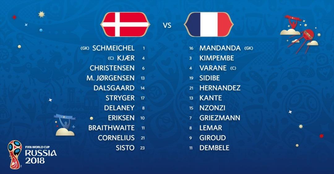 Live Streaming Denmark vs France 26.6.2018 Piala Dunia FIFA