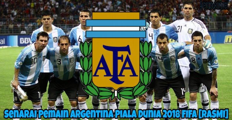 Senarai Pemain Argentina Piala Dunia 2018 FIFA [RASMI]