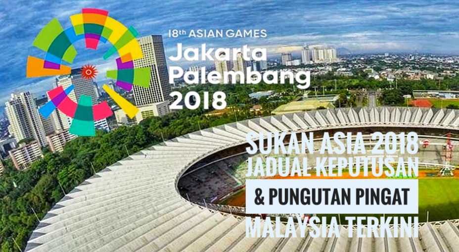 Sukan Asia 2018 Jadual Keputusan & Pungutan Pingat Malaysia Terkini