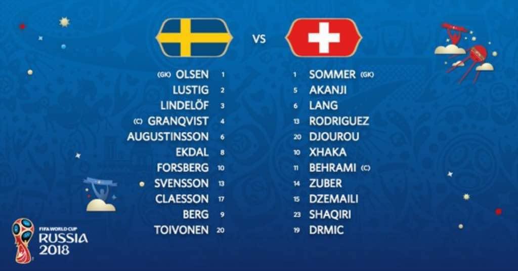 Live Streaming Sweden vs Switzerland 3.7.2018 Piala Dunia FIFA