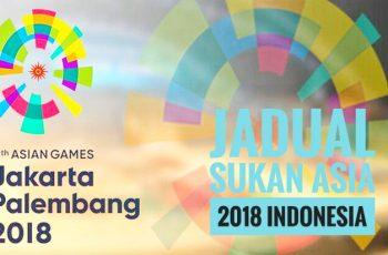 Jadual Sukan Asia 2018 Indonesia