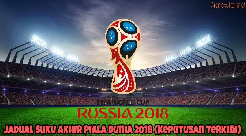 Jadual Suku Akhir Piala Dunia 2018 (Keputusan Terkini)