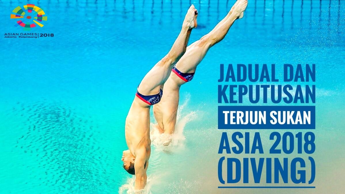 Jadual dan Keputusan Terjun Sukan Asia 2018 (Diving)