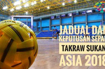 Jadual dan Keputusan Sepak Takraw Sukan Asia 2018