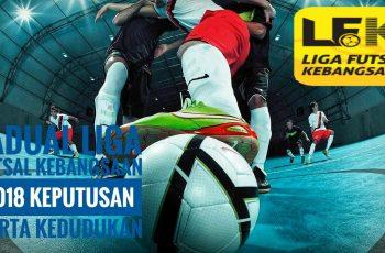 Jadual Liga Futsal Kebangsaan 2018 Keputusan Carta Kedudukan