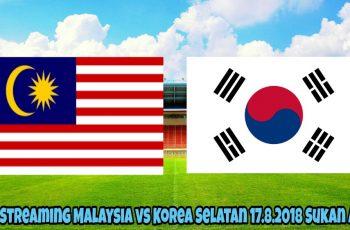 Live Streaming Malaysia vs Korea Selatan 17.8.2018 Sukan Asia
