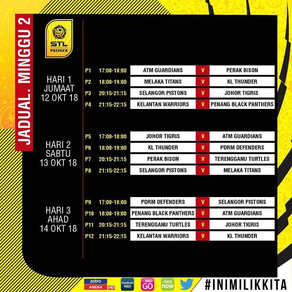 Jadual Sepak Takraw League 2018 STL