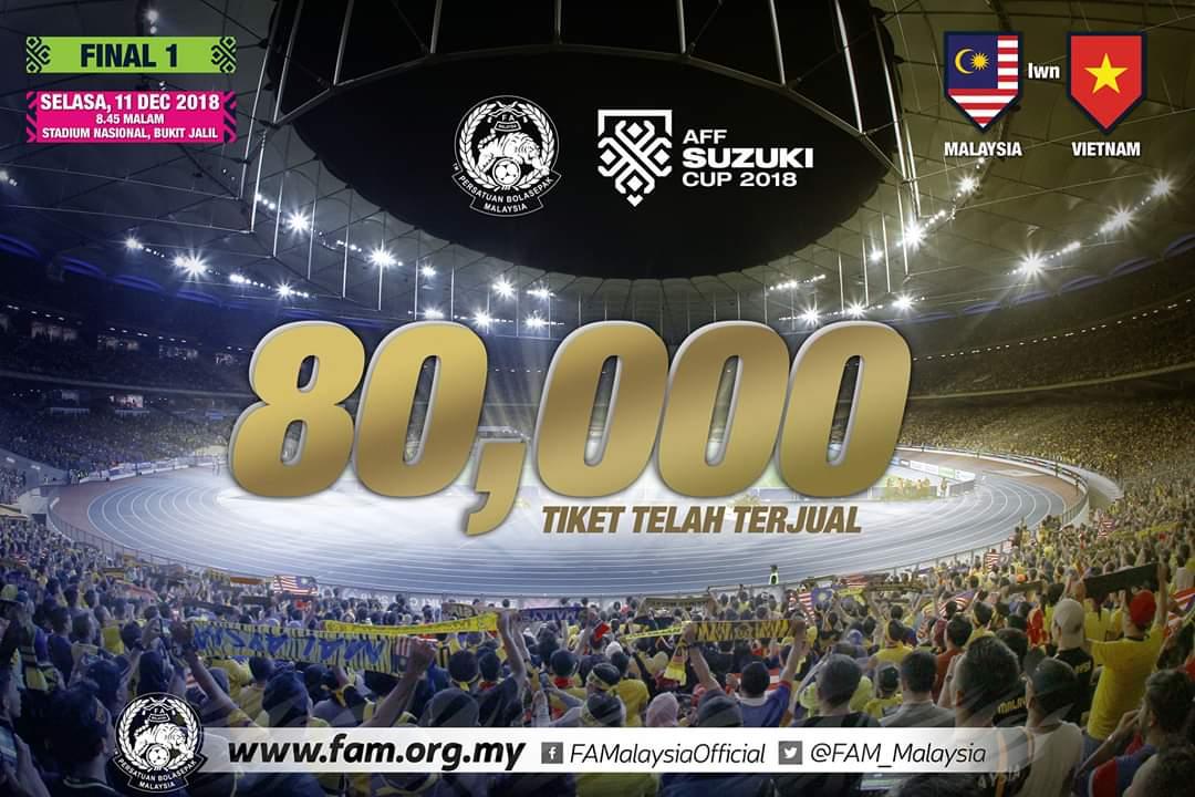 Semua Tiket Final 1 Piala Suzuki AFF 2018 Laris Dijual Dalam Singkat