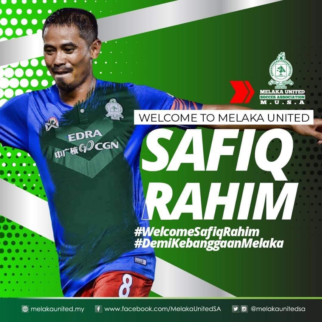 Safiq Rahim Sah Mengikat Kontrak Semusim Bersama Melaka United