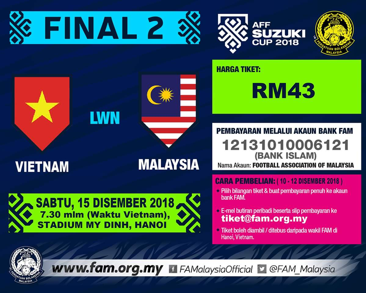 Harga dan Cara Beli Tiket Final 2 Piala Suzuki AFF 2018