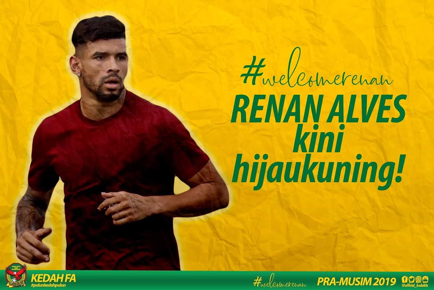 Fernando Rodríguez dan Renan Alves Sah Import Baharu Kedah FA