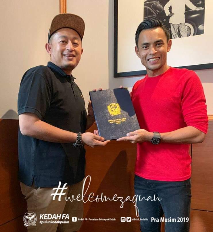 Kapten Harimau Malaya Zaquan Adha Sah Menyarung Jersi Kedah FA