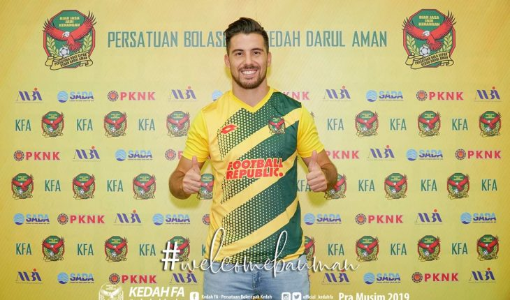 Jonathan Bauman Sah Import Ke-5 Pasukan Kedah FA