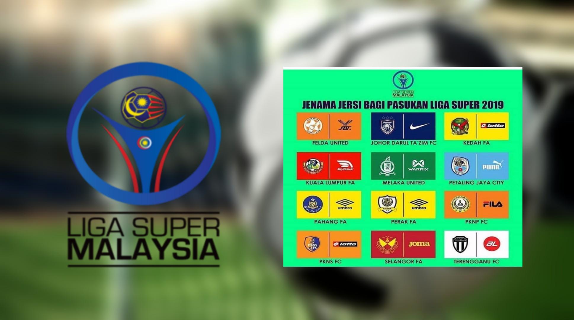 Jenama Jersi Pasukan Liga Super 2019