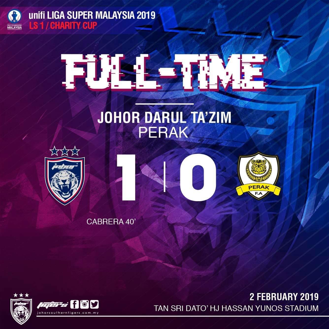 JDT Juara Piala Sumbangsih 2019, Hasil Gol Chip Cabrera Menarik!