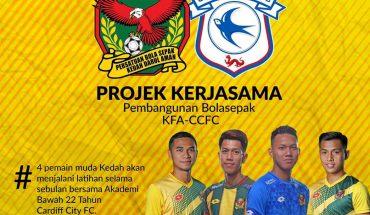 Kedah FA Hantar 4 Pemain Muda Jalani Latihan Bersama Akademi Bolasepak Cardiff City