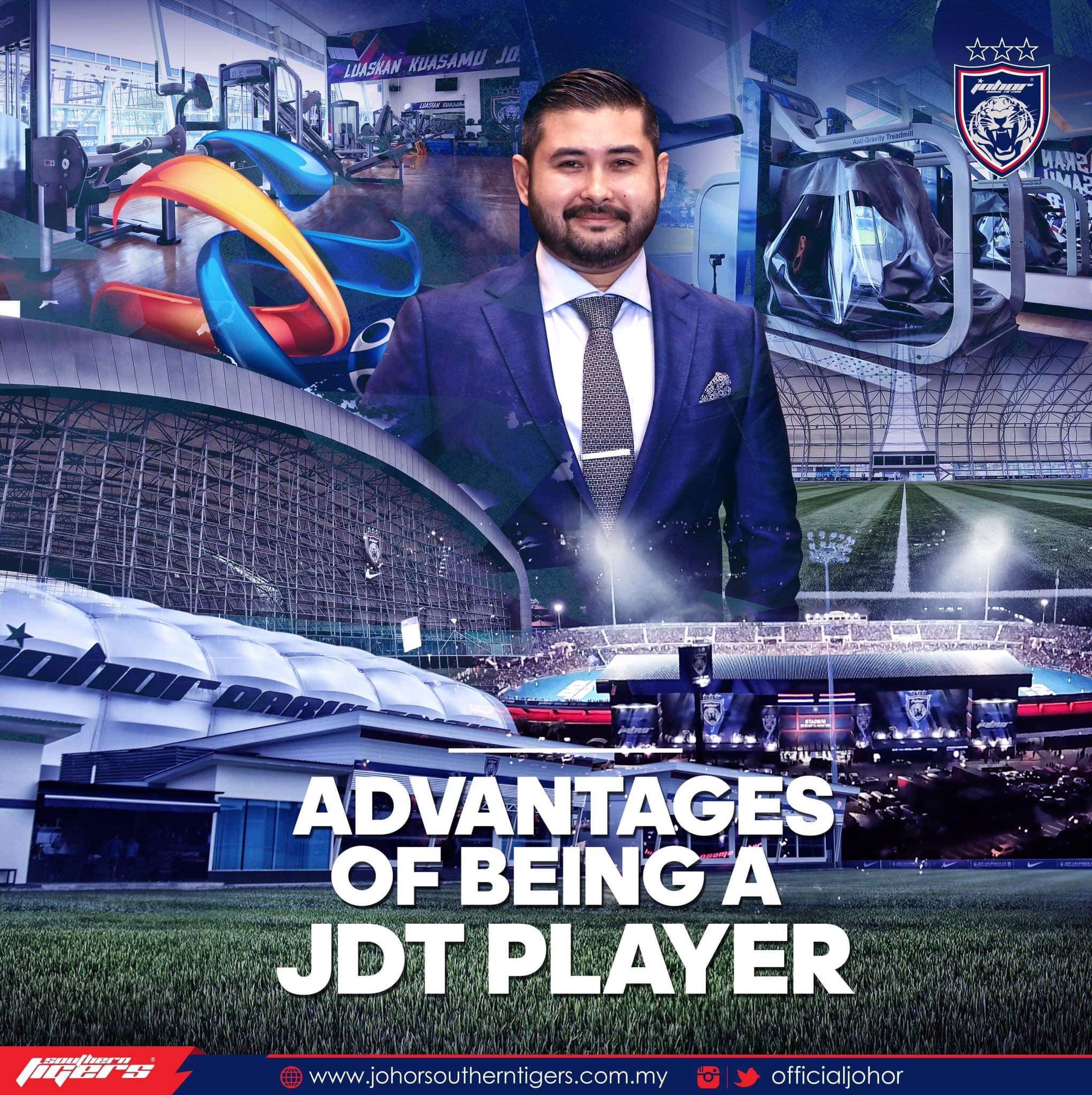 Kelebihan Menjadi Pemain Johor Darul Ta'zim