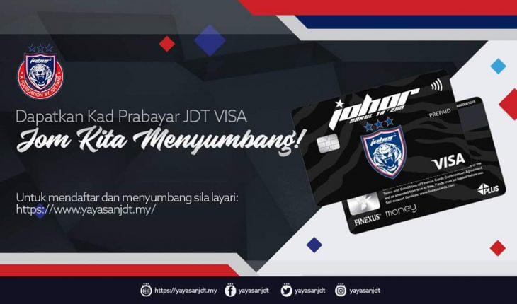 JDT Lancar Kad Visa dan Keahlian, Tiga Pakej Ditawarkan!