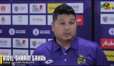 Kedah Yakin Mampu Bangkit dan Cabar JDT - Aidil Shahrin