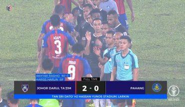 Gol Dari Hariss dan Akhyar, Tundukkan Pahang di Larkin