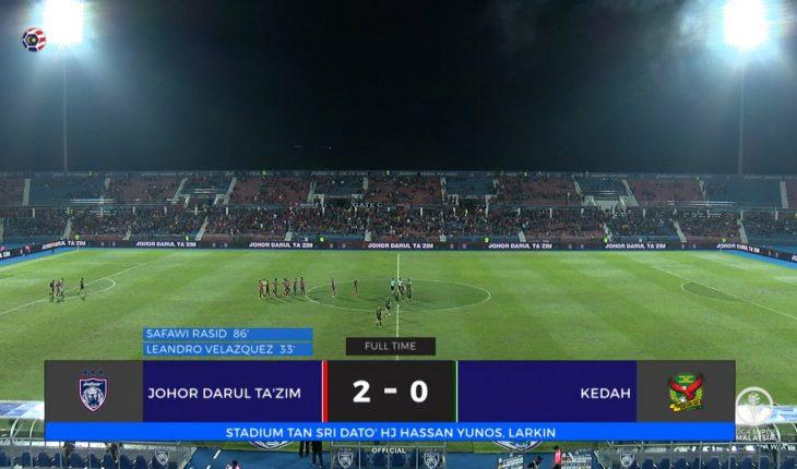 JDT Menang di Larkin, Kedah Beraksi Dengan 10 Pemain