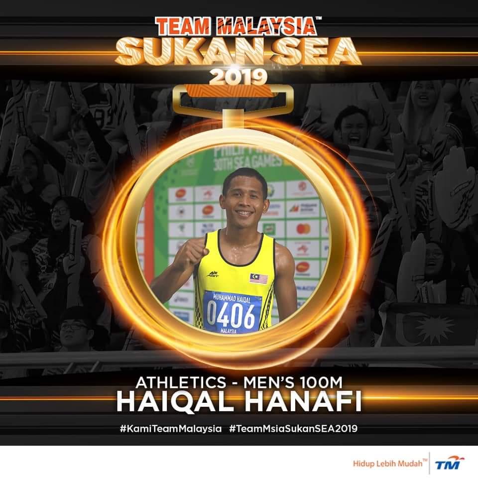Biodata Haiqal Hanafi Raja Pecut Sukan SEA 2019