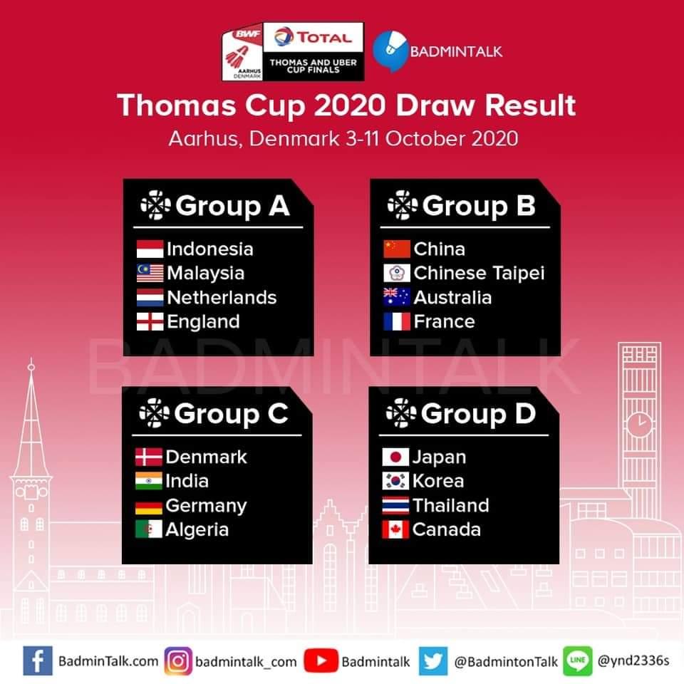 Jadual Piala Thomas & Uber 2020 Malaysia